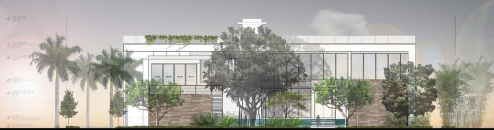 Miami Beach Estate Elevation Front