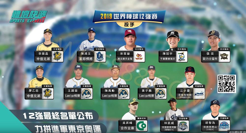 世界棒球12強 野手陣容