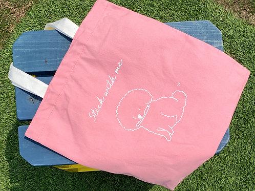 Hooman Tote Bags (Pink)