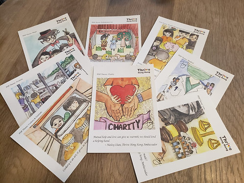 Thrive Hong Kong YEAR TWO 8x Themed Postcards