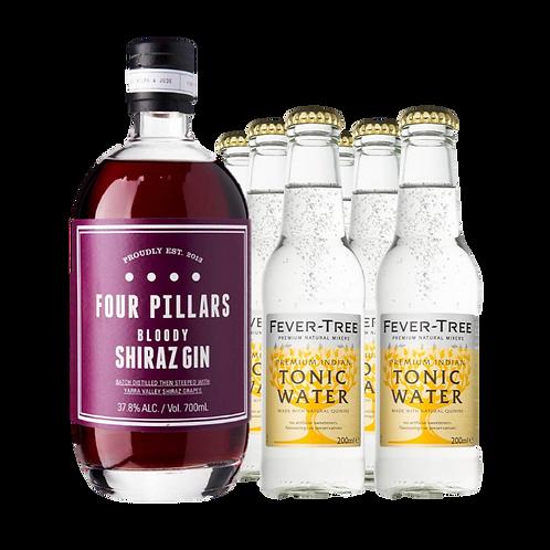 Four Pillars Bloody Shiraz Gin (with 6 Fever-Tree premium tonic water)