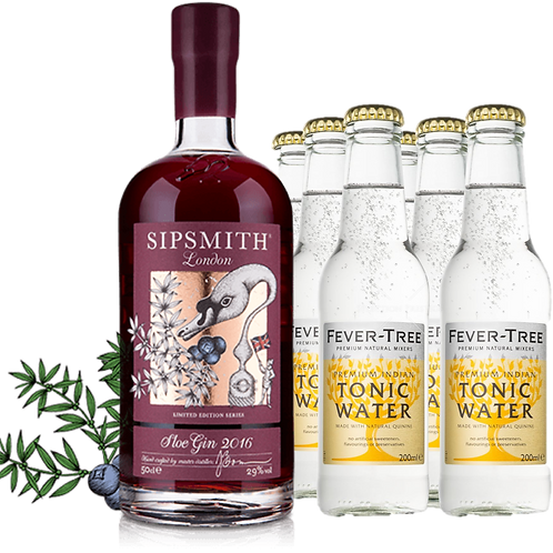 Sipsmith Sloe Gin (with 6 Fever-Free premium tonic water)