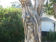Carved Tree on Main Street