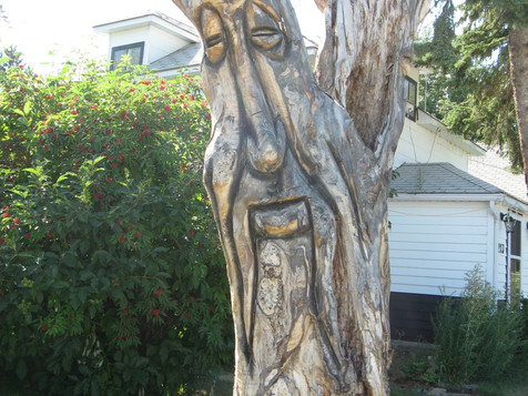 Carved Tree on Main Street