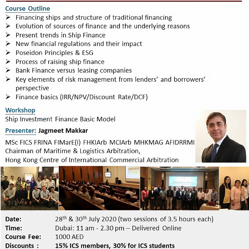 Training - Ship Finance & Investment Decision Making Process by Skills+