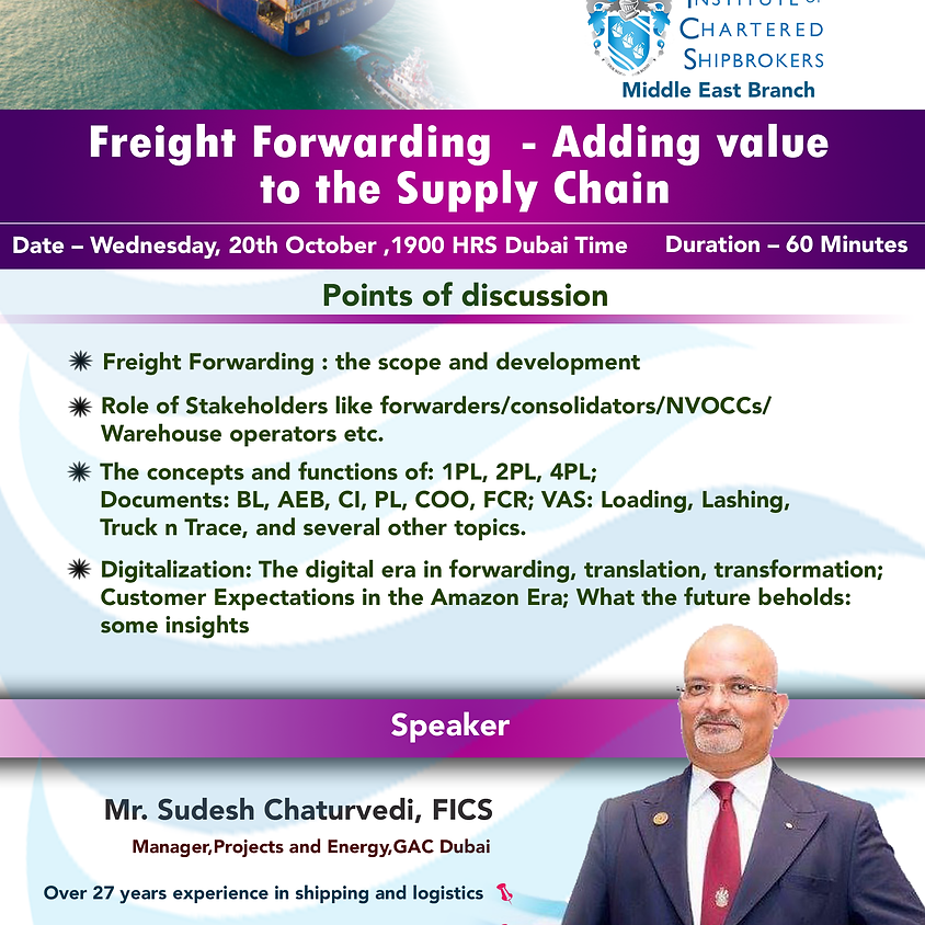 Freight Forwarding Adding value to the supply chain