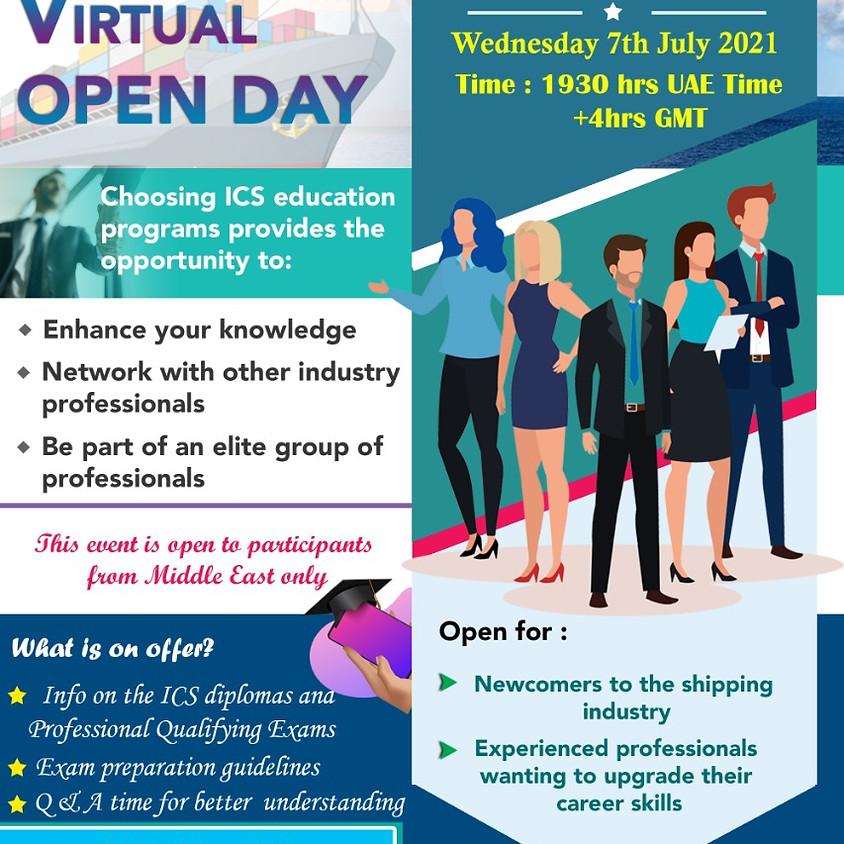 ICS-ME Virtual Open Day July 2021