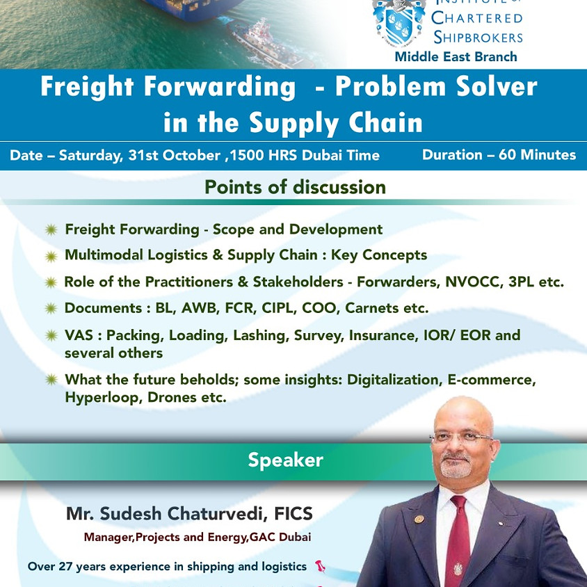 ICS-ME - KS 2020 - Freight Forwarding  - Problem Solver in the Supply Chain