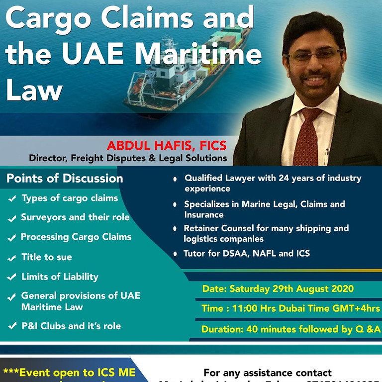 Cargo Claims and the UAE Maritime Law