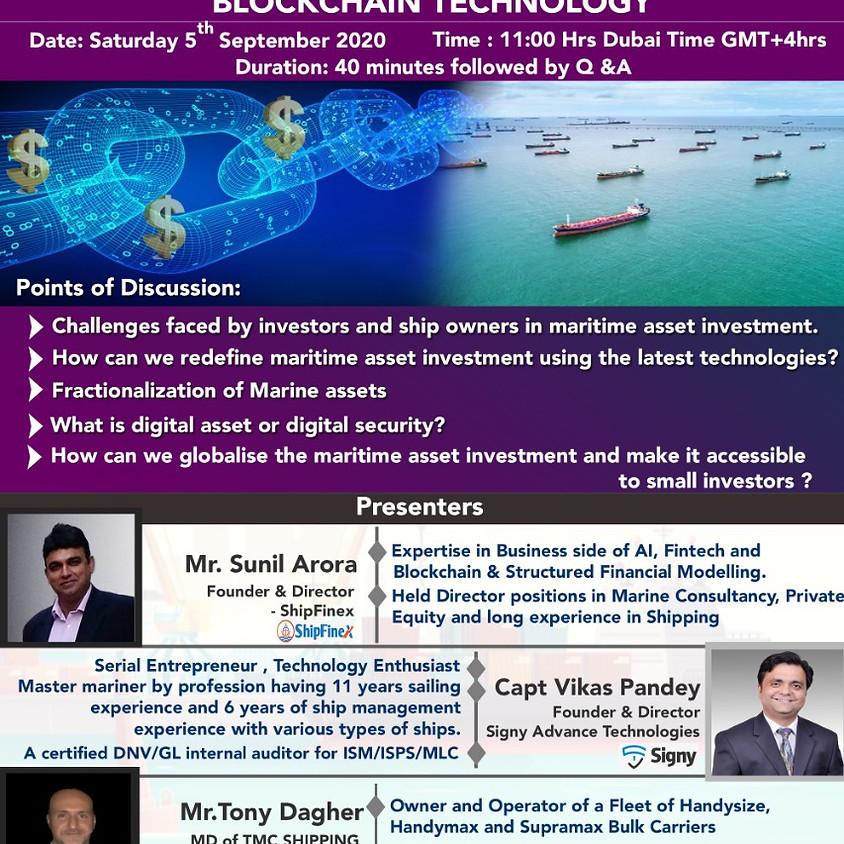 Democratizing Ship Finance by Using Blockchain Technology