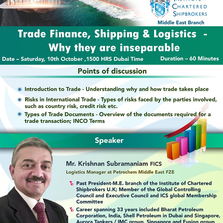 ICS-ME - KS 2020 - Trade Finance, Shipping & Logistics  - Why they are Inseparable
