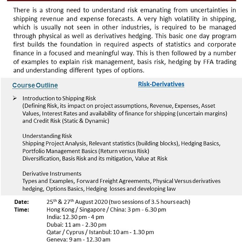 Training - Shipping Risk Management & Derivatives (An Applied Approach)