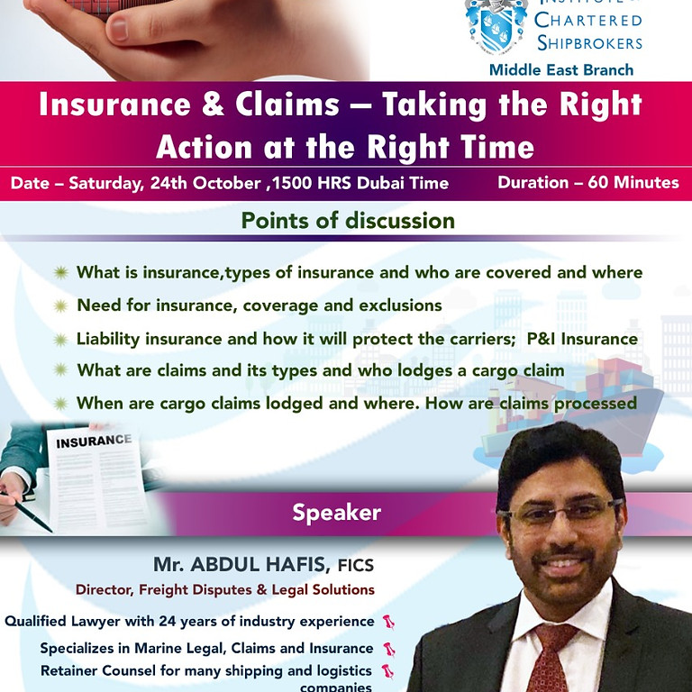 ICS-ME - KS 2020 - Insurance & Claims – Taking the Right Action at the Right Time