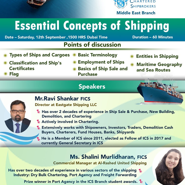 ICS-ME - KS 2020 - Essential Concepts of Shipping