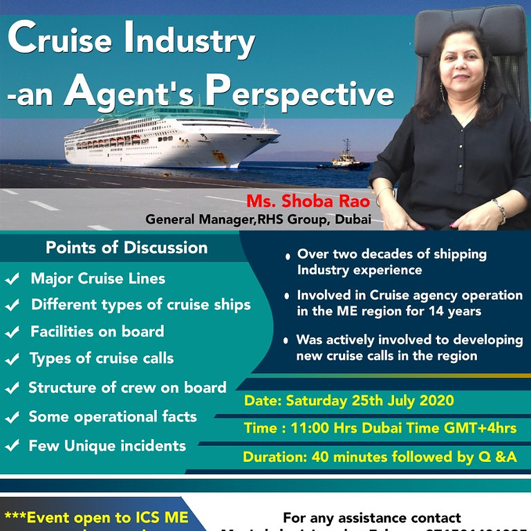 Cruise Industry - An agents Perspective