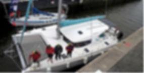 France Voile Loisirs, Catamaran Nautitech, catamaran hauturier, apprendre à naviguer, faire de la voile en haute mer