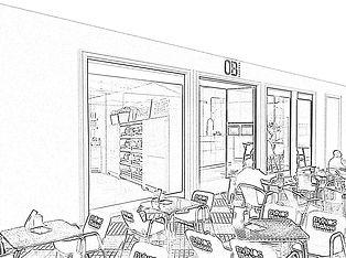kauri diseño de interiores arquitectura interiorismo interior Málaga boceto dibujo tienda de cocnas Córdoba fachada