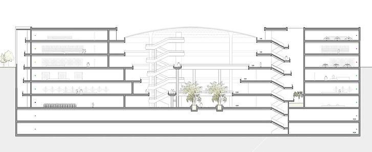 kauri diseño de interiores arquitectura interiorismo interior Málaga sección