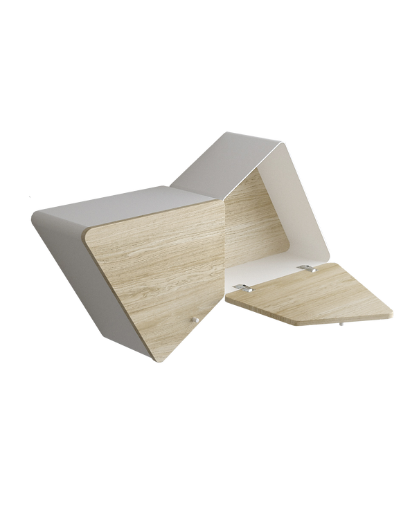 kauri diseño de interiores arquitectura interiorismo interior Málaga infografía estantería librería modular kambiam mobiliario