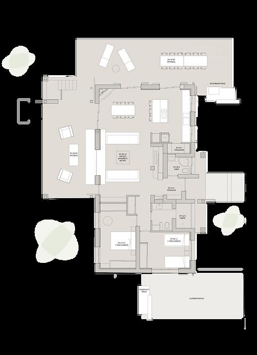 kauri diseño de interiores arquitectura interiorismo interior Málaga plano vivienda distibución