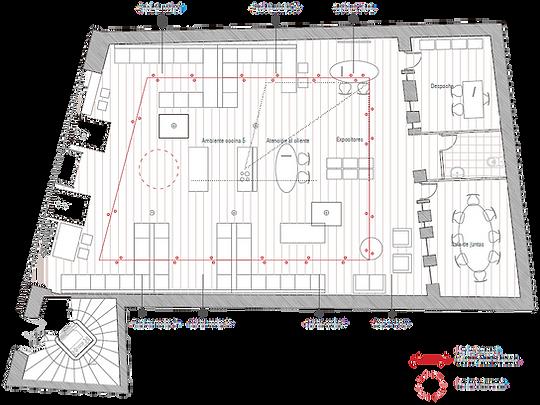 kauri diseño de interiores arquitectura interiorismo interior Málaga plano distribucón tienda d cocinas