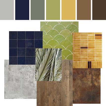 paleta cromática kauri diseño de interiores arquitectura interiorismo interior Málaga