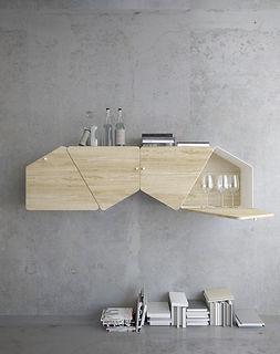 kauri diseño de interiores arquitectura interiorismo interior Málaga infografía estantería librería modular kambiam