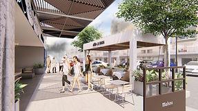 kauri diseño de interiores arquitectura interiorismo interior Málaga restaurante La Rada boceto dibujo 3D exterior fachada