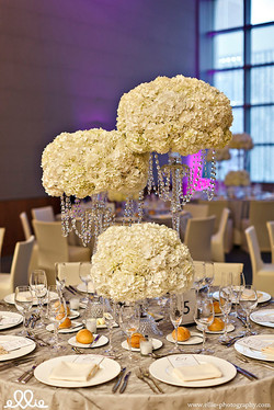 335 KC Creations Weddings and Events white hydrangea crystal candelabra purple l