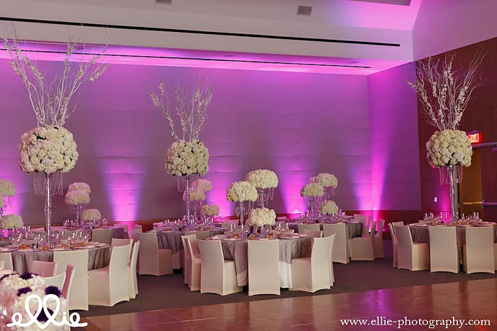 334 KC Creations Weddings and Events white hydrangea crystal candelabra purple l