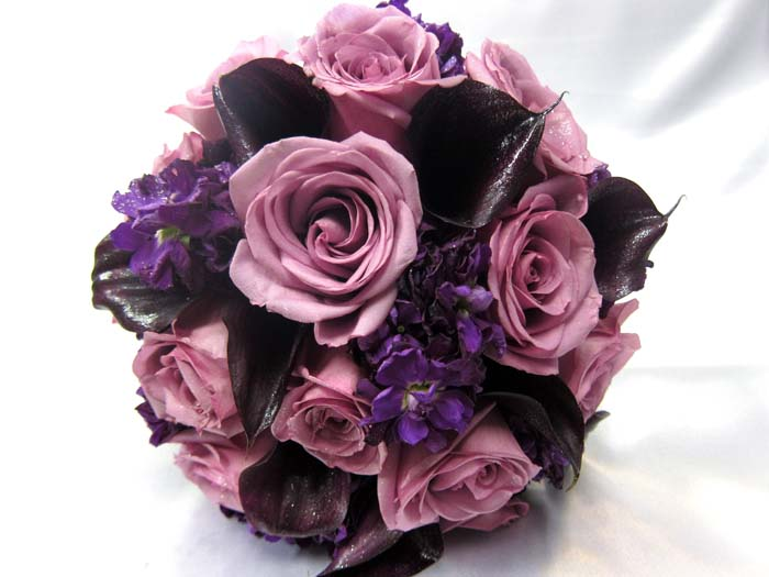 337 KC Creations Weddings and Events eggplant calla lillies lavender roses purpl