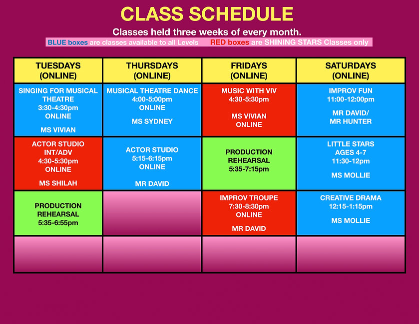 PAC Class Weekly Schedule January 2021.j