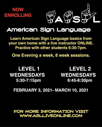 Sign Language Class Flyer Spring 2021.jp
