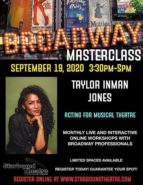 Broadway Masterclass Flyer September 202