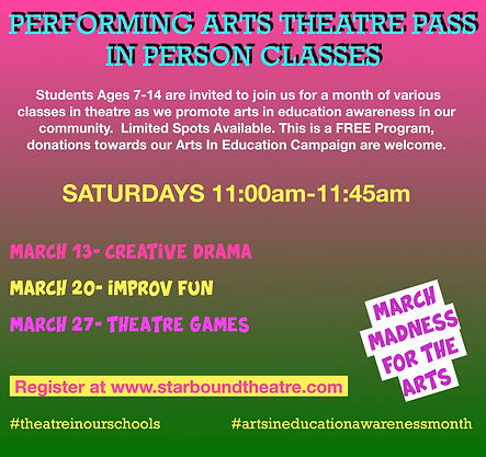 Performing Arts Theatre Pass Flyer In Pe