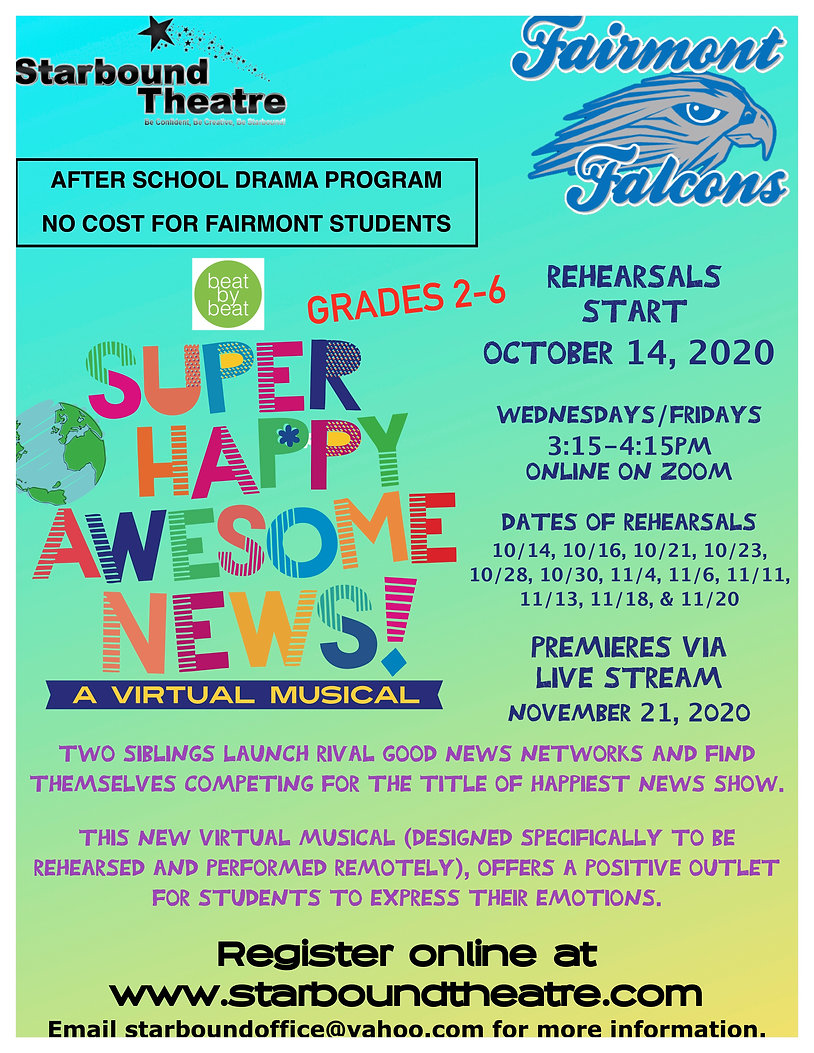 Super Happy Awesome News Flyer Fairmont.