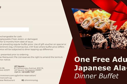 One Free Adult Ala-Carte Dinner Buffet