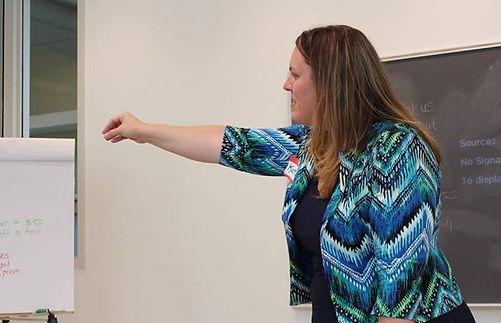 Organier and Presenter Katie Raver, atte