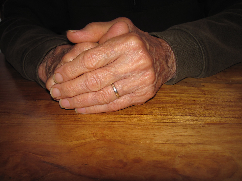 My father's hands a few years ago.