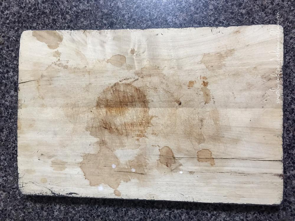Sad little chopping board