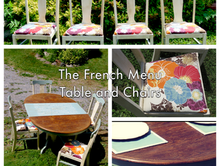 The French Menu Table and Chairs