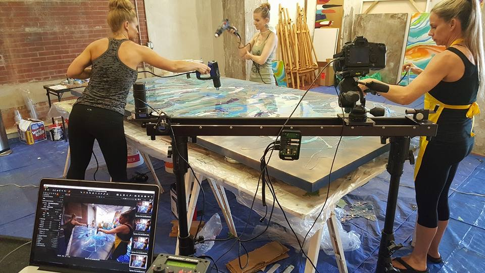 Filming Selkin's Resin
