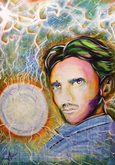 "Sold Nikola Tesla 72"" x 60"""