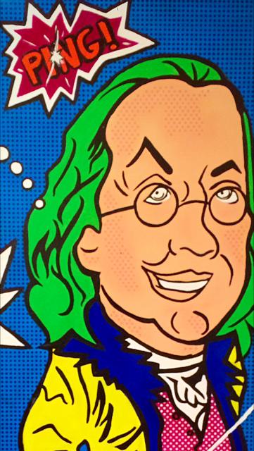 """Sold Ben Franklin 72"""" x 60"""""""