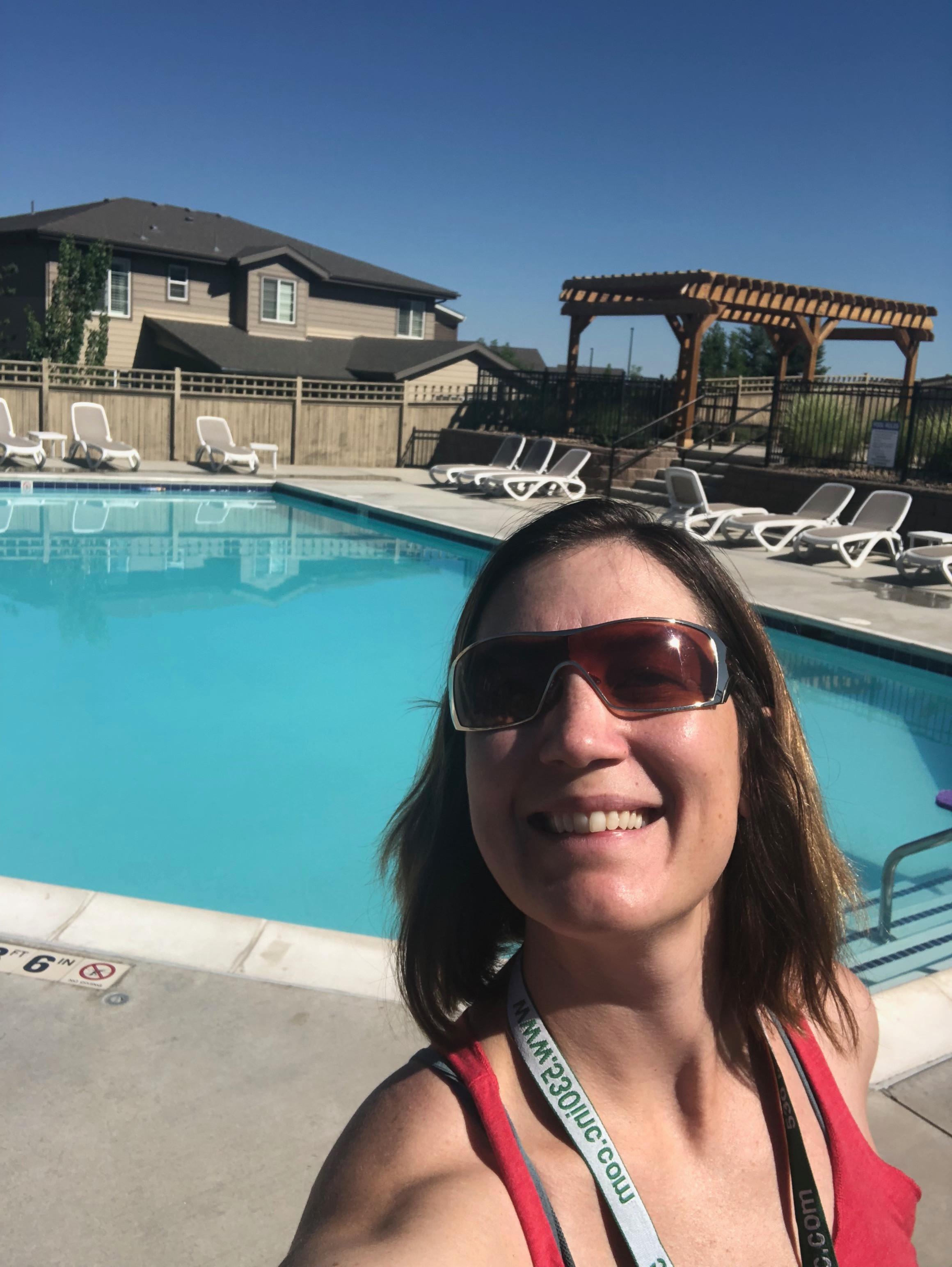 Yoga at the Pool Kings Ridge