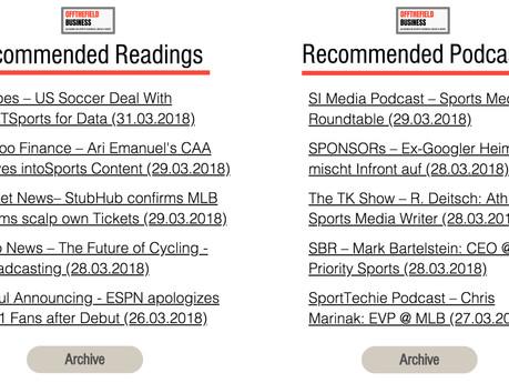 Weekly Recap #13: Quick-Hit Edition 📚 & Soziale Netzwerke für den Sport 🎧