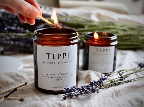 Lavender + Palmarosa Soy Wax Candle