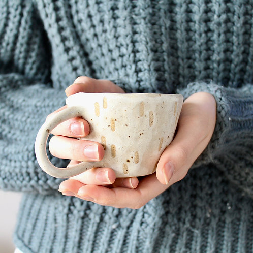 Oatmeal Dashes // Handmade Ceramic Mug