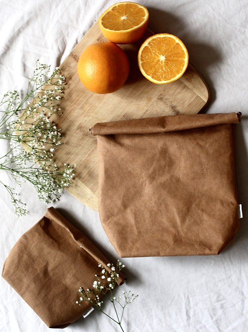 Vegan Leather Lunch Bag