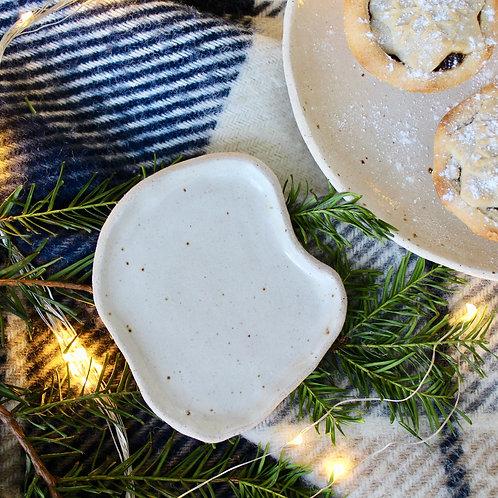 Handmade Ceramic Dish // Wavy Oatmeal